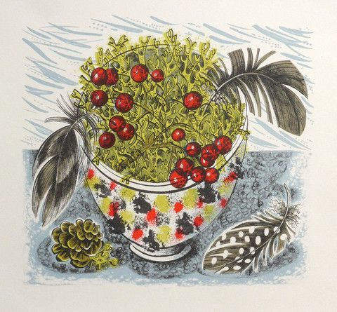 'Cromarty Bowl' by Angie Lewin (lithograph)