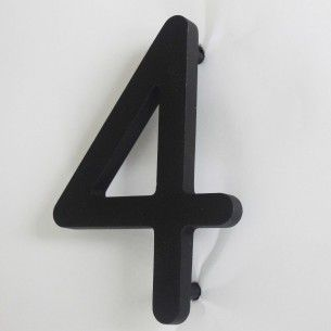 NUMEROS DE MAISON 3D - INOX SABLE NOIR - 10 cm - 28,70 € www.creativ-sign.com