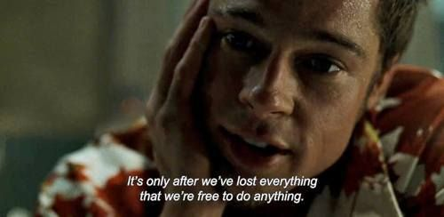 quote, brad pitt, and fight club image