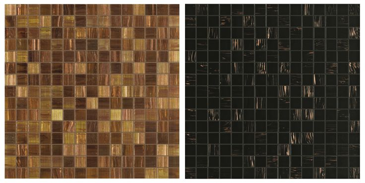Bathtubs with mosaic exteriors: a couple of options in glass tile.