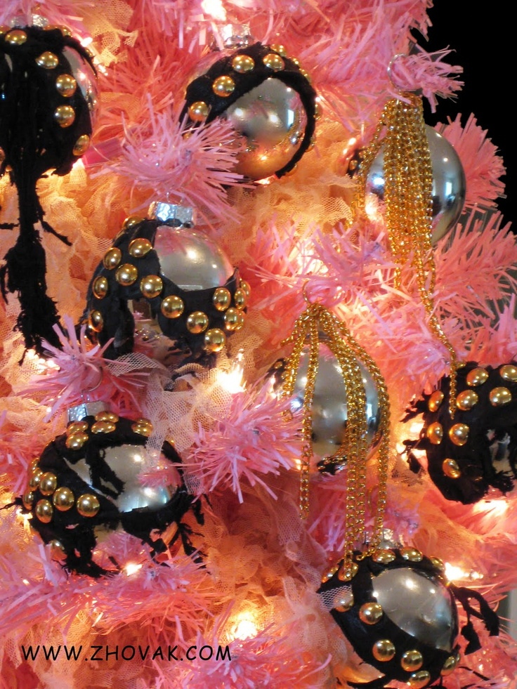 Pink Black And White Christmas