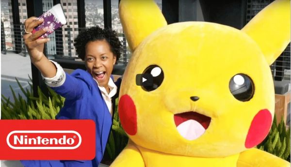 Official parody video: Giant Pikachu mascot helped design the New Nintendo 2DS XL Pikachu Edition