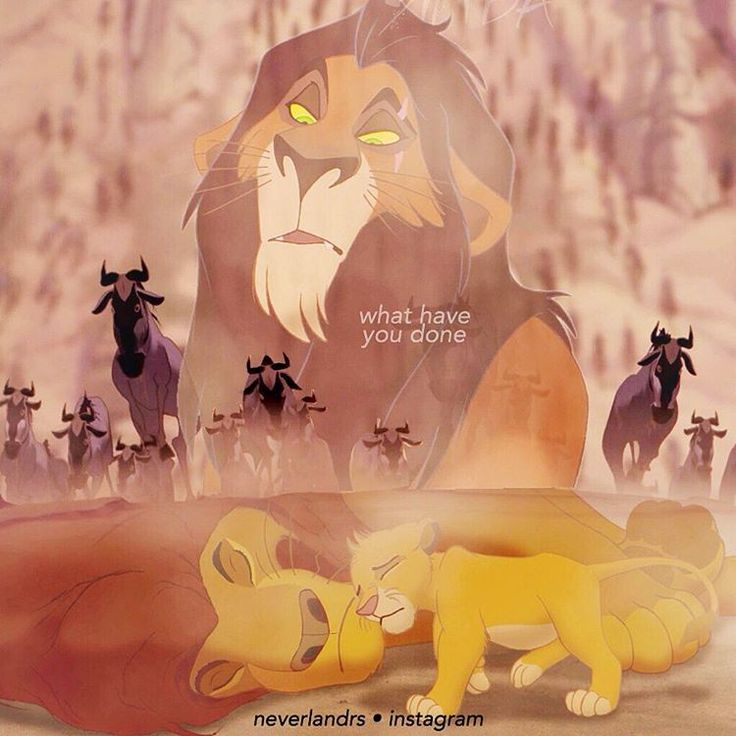 """I think Scar is one of the worst villains because he let ..."