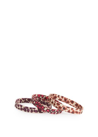 Pack elastici per capelli leopardati