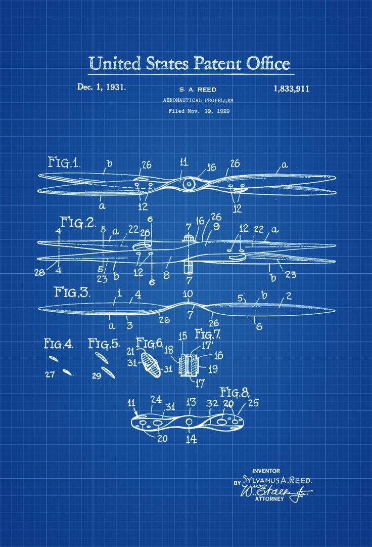 250 best blue print images on pinterest art impressions art aeronautical propeller patent aviation blueprint vintage aviation art airplane art pilot gift aircraft decor plane propeller malvernweather Image collections