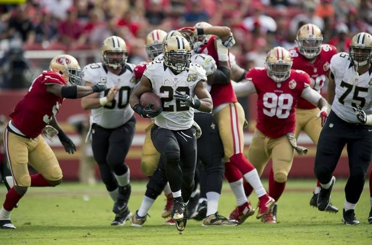 Saints vs. 49ers:  41-23, Saints  -  November 6, 2016  -     New Orleans Saints running back Mark Ingram (22) score a touchdown on a 70-yard run in the second quarter against the San Francisco 49ers during a game at Levi's Stadium on Sunday, November 6, 2016 in Santa Clara, Calif.