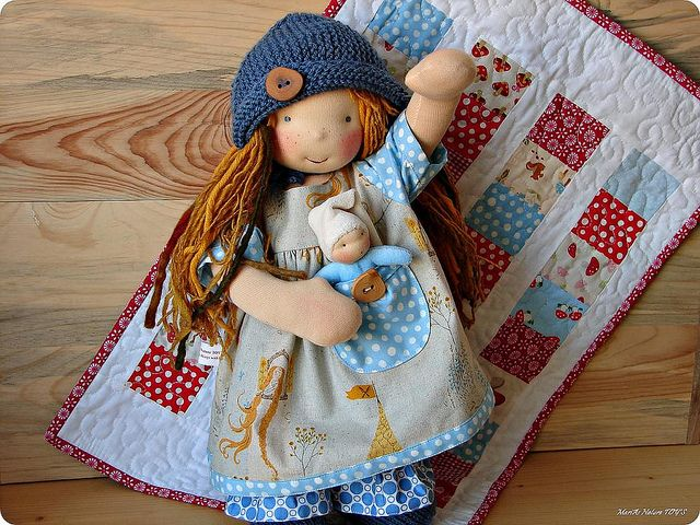 Can't take it anymore, too cute!waldorf dolls!