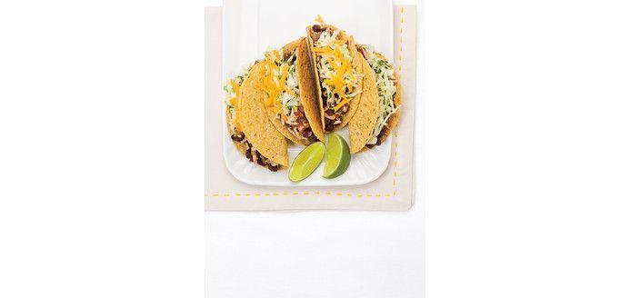 Tacos végétariens. Se prépare facilement la veille, pour un petit souper rapide!
