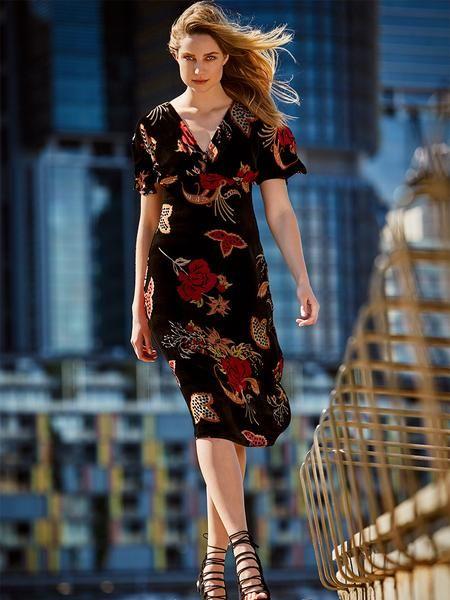 VELVET // Lenora Dress in store and online