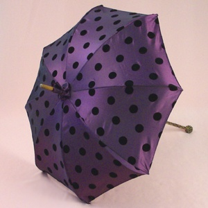 Polka-dot umbrella