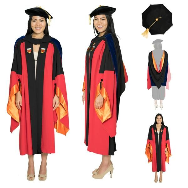 Academic Regalia Classic Doctorate Doctoral Graduation Tam /& Gown