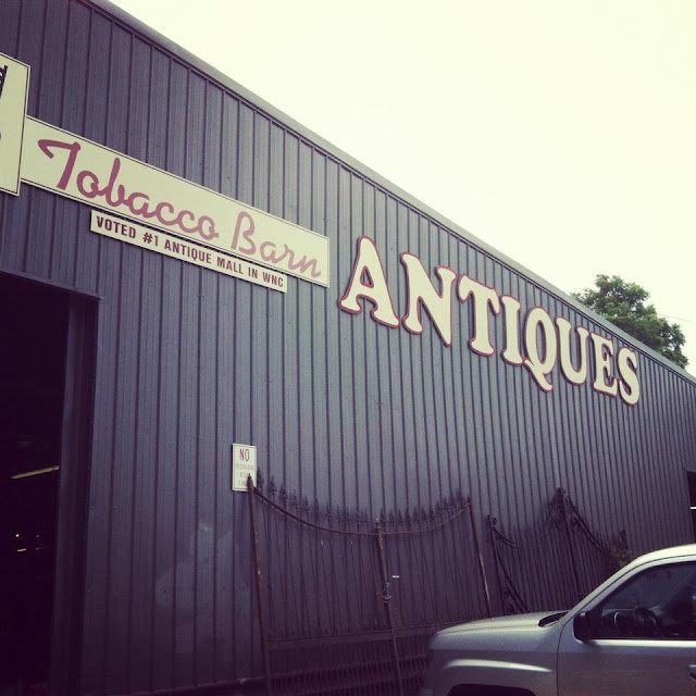 The Antique Tobacco Barn in Asheville, NC: A Treasure Hunter's Dream! We could spend a whole day in here! I have to pry myself out so we can see something other than antiques!