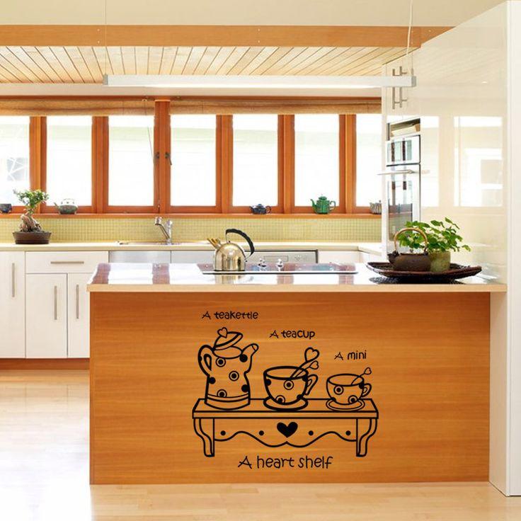Стикер Стены кухни, кабинет Пастер стены настенной росписи Искусства наклейки для кухни Домашнего Декора плакат