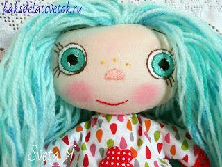 ΥΠΕΡΟΧΕΣ ΔΗΜΙΟΥΡΓΙΕΣ: Кукла Мальвина - Девочка с голубыми волосами.