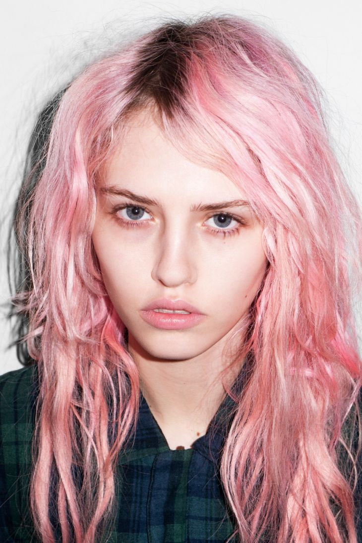 faded pink...Love this hair color, only if I had blonde hair.....!!