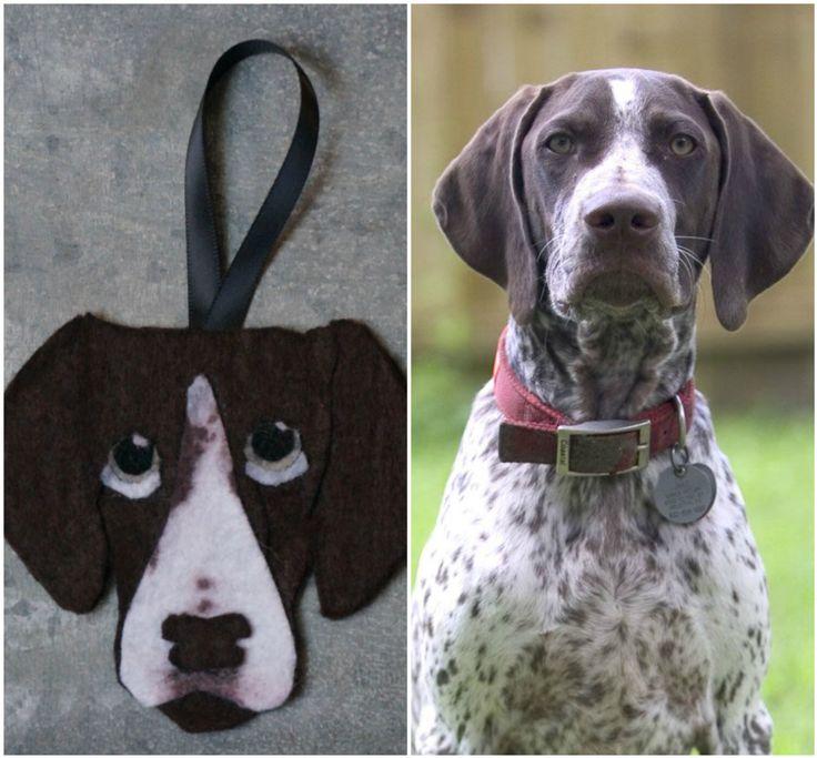Custom Felt Dog Ornament - Small by DashAndTheOrangeBus on Etsy https://www.etsy.com/listing/491384577/custom-felt-dog-ornament-small