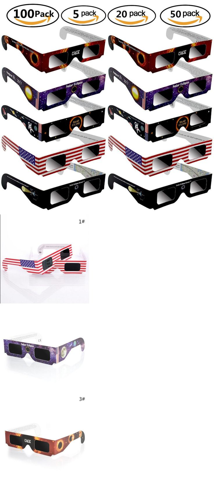 Telescopes and Astronomy 31745: Solar Lunar Eclipse Glasses, Safe Solar Viewing Protect Your Eyes August 21Th -> BUY IT NOW ONLY: $34.99 on eBay!