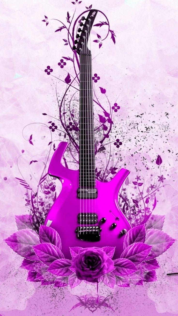 wallpaper music guitar pink - photo #9