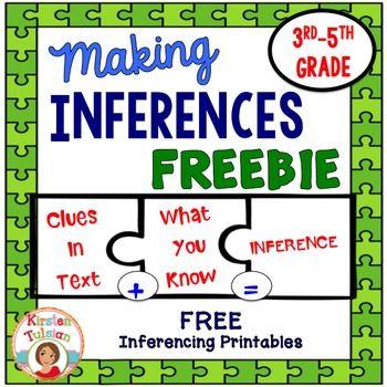 Making Inferences FREEBIE 3rd to 5th grade English Language Arts, EFL ...