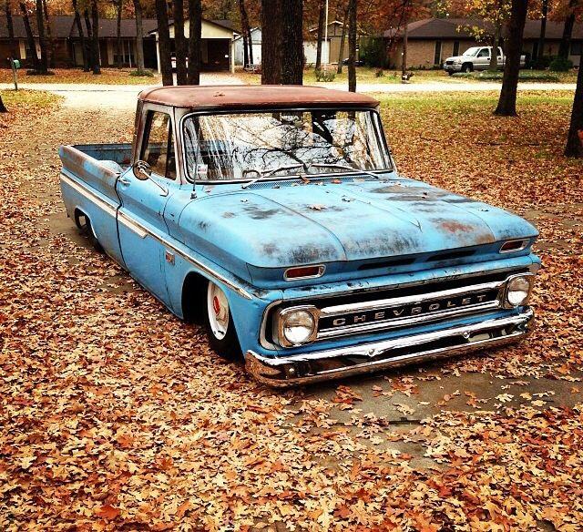 Low Blue Chevrolet C10 Truck