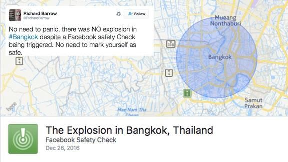Facebook's Safety Check feature was the latest victim of fake news Read more Technology News Here --> http://digitaltechnologynews.com  Once again fake news is having serious and terrifying implications on social media.  On Dec. 26 Facebook's Safety Check feature was activated to alert locals of explosion in Bangkok Thailand. The feature however was activated under false pretenses apparently in response to a news story about a bombing that occurred in 2015.  SEE ALSO: Can Facebook fix its…