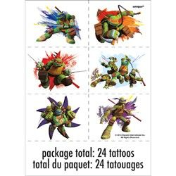 Teenage Mutant Ninja Turtles Tattoos, TMNT Party Supplies
