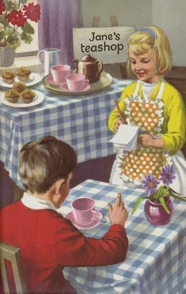 "Peter.and Jane series Ladybird book "" Let me write"" 1965 illustrated by Robert Ayton"
