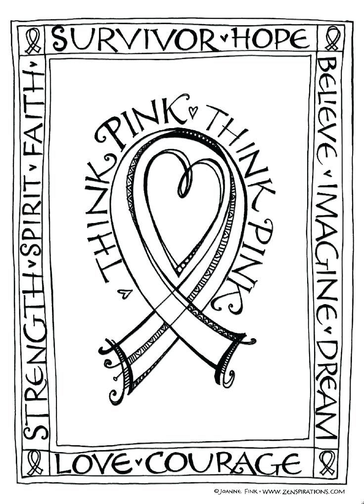 Breast Cancer Ribbon Coloring Pages Best Images About Brain Breast