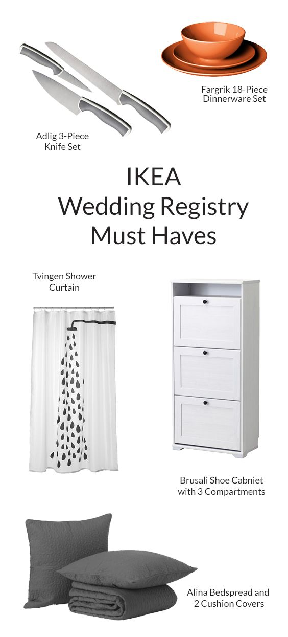 Create a wedding registry at MyRegistry.com to add gifts from Ikea and any  other