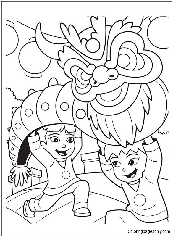 Chinese New Year Dragon Coloring Page Http Coloringpagesonly Com Pages Chinese New Year New Year Coloring Pages Dragon Coloring Page Chinese New Year Dragon