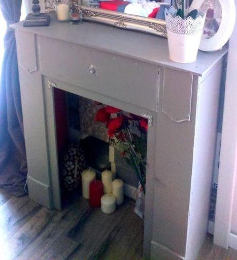 Idée déco DIY : Réalisez vous même une cheminée originale en trompe l'oeil à prix mini avec des produits du commerce
