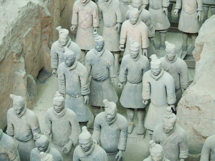 Frontline of the Terracotta warriors of Qin Shi Huang, Xi'an, Shaanxi province, China