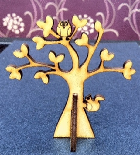 Whimiscal Tree with little owl and squirrel £2.25