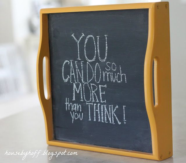 A Goodwill tray gets a chalkboard makeover!