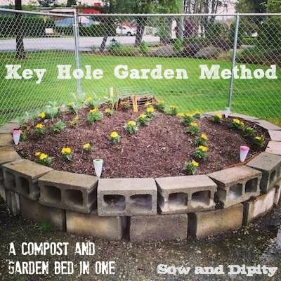 Keyhole Garden Bed Method, a Compost and Garden Bed in One.