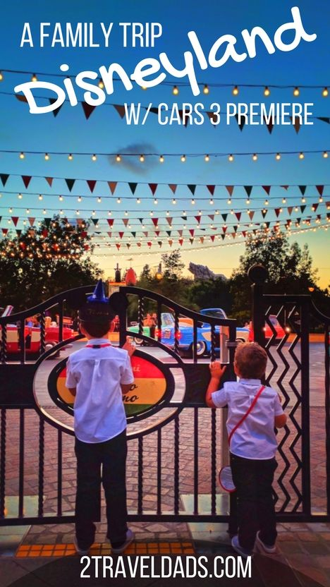 A family Disneyland vacation is an awesome experience. Check out travel tips to make it easier are helpful and peek at the unforgettable Cars 3 Premiere too. Amazing family travel experience with Disney! 2traveldads.com