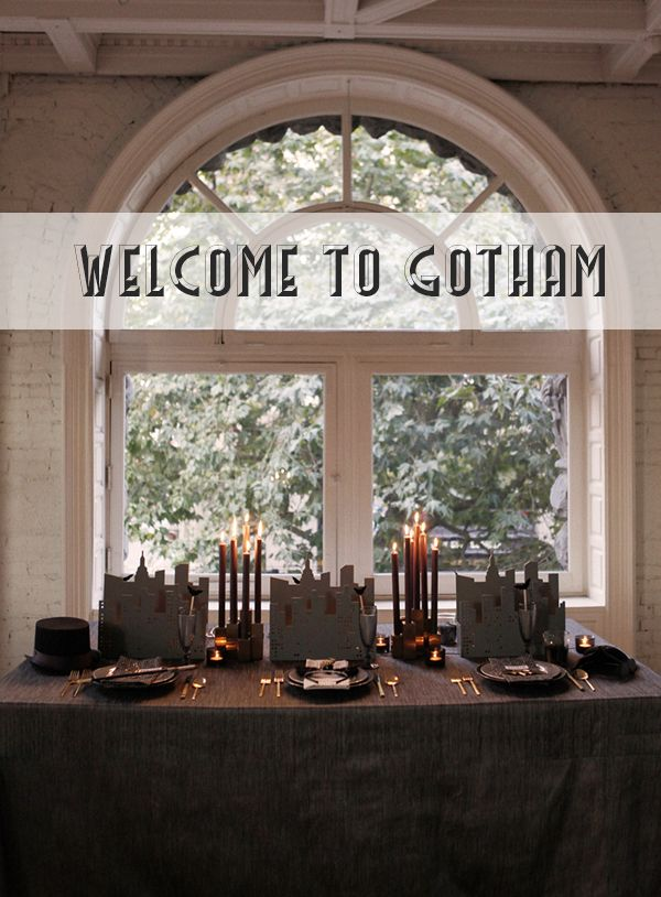A HALLOWEEN TABLETOP :: GOING GOTHAM - coco+kelley (How to throw an awesome Gotham-themed party fit for adults.)