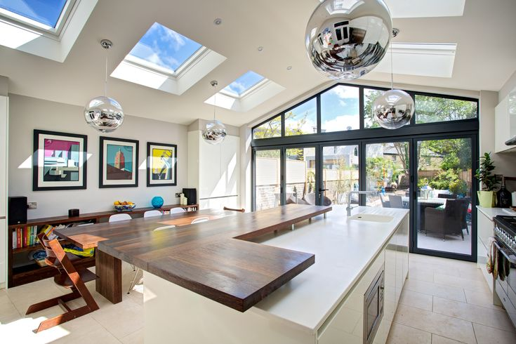 Beautiful kitchen extension by Landmark Lofts in west London!