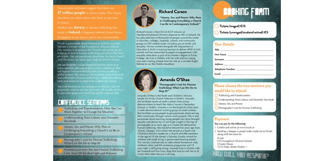 Tirzah Conference Tri-fold Brochure (inside)