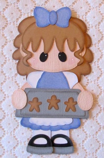 Baking Cookies Girl Paper Piecing