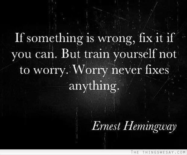 Life advise from ERNEST HEMINGWAY!  REALLY?!?!  Oo, oo, maybe F Scott Fitzgerald has some words of wisdom too!