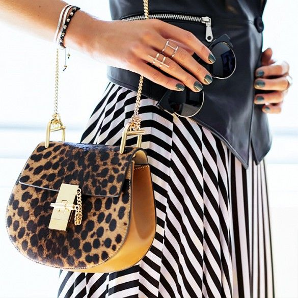 cheetah print chloe drew bag inspiration post