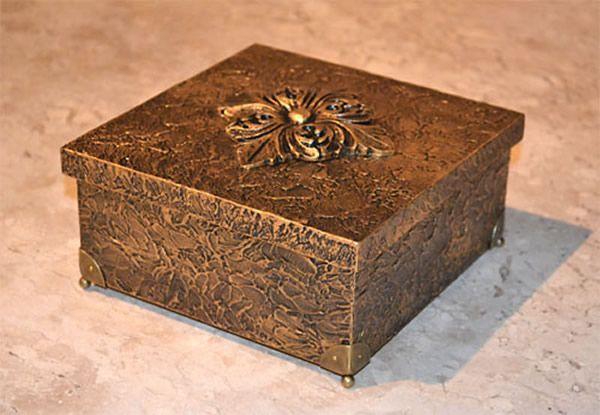 9 técnicas de como decorar caixa MDF...efeito metalizado