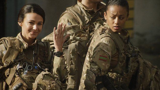 Georgie and Elvis say their final goodbyes after getting engaged in the series finale of Our Girl.