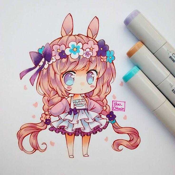 Милые чиби картинки для срисовки