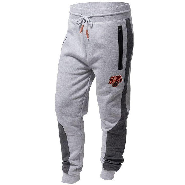 Men's New York Knicks Tech Foul Jogger Pants, Grey