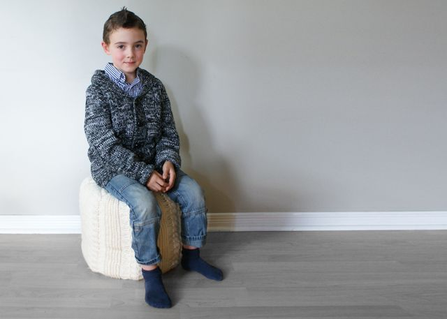 2015018 Cable Knit Footstool — Midknits