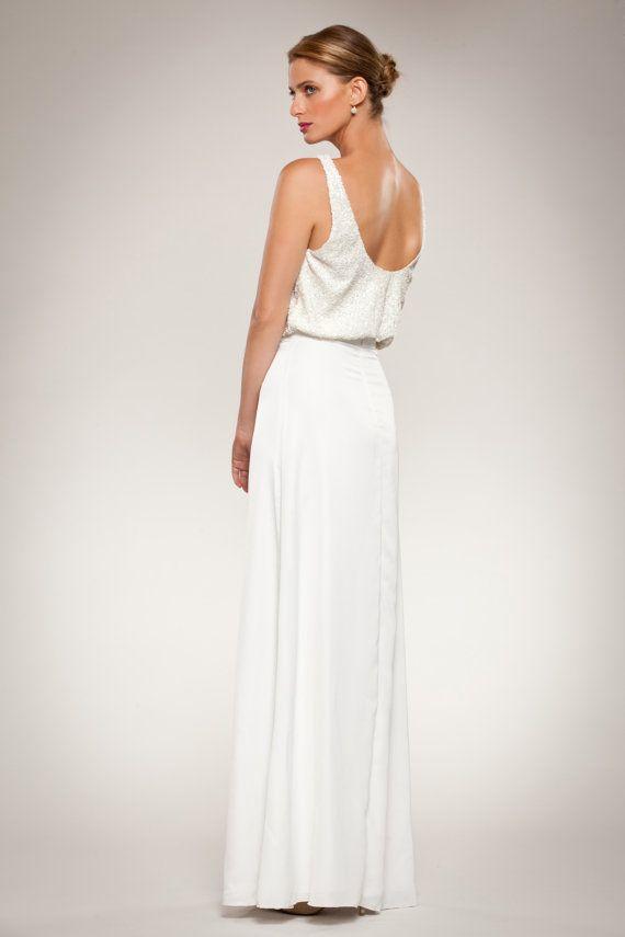 Гламурные свадебные платья платье с блестками Топ Low Open от MayaKurz