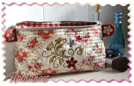 Romance Make Up Bag With Zipper And Lining 18x30 Cm Ith In