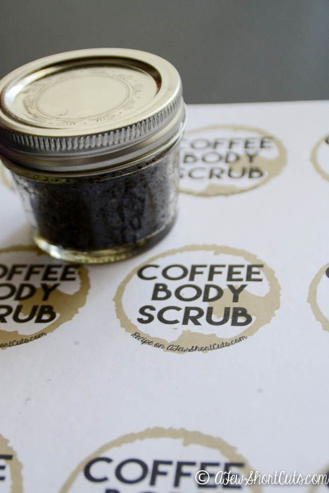 Great for gift giving or to make for yourself. Whip up a batch of Homemade Coffee Body Scrub to exfoliate and improve circulation.